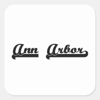 J'aime la conception classique d'Ann Arbor Sticker Carré