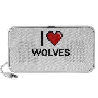 J'aime la conception de Digitals de loups Haut-parleurs iPod