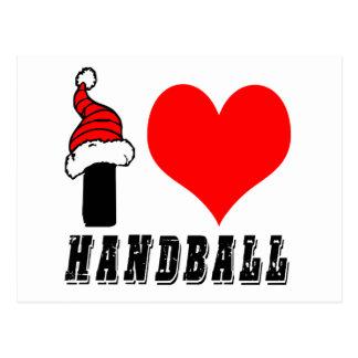 J'aime la conception de handball cartes postales