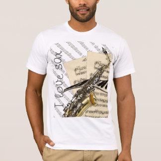 J'aime la conception drôle de musique de saxo t-shirt