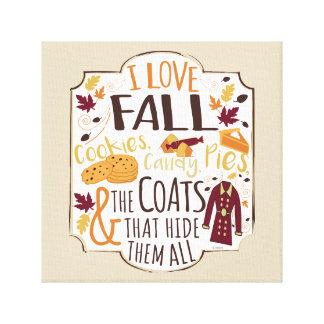 J'aime la copie de toile d'automne