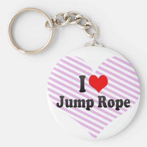 J'aime la corde de saut porte-clés