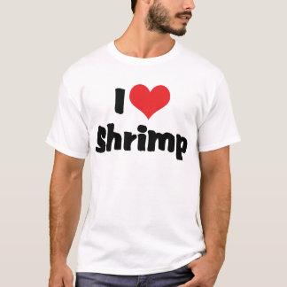 J'aime la crevette de coeur - amant de fruits de t-shirt