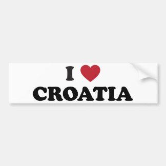 J'aime la Croatie Autocollant De Voiture