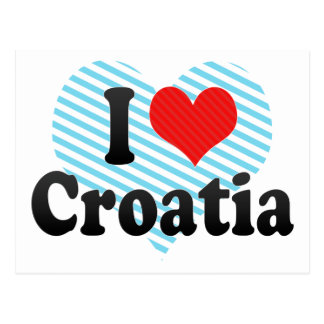 J'aime la Croatie Carte Postale