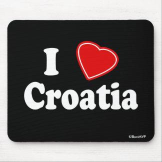 J'aime la Croatie Tapis De Souris