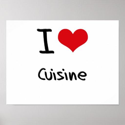J'aime la cuisine affiche