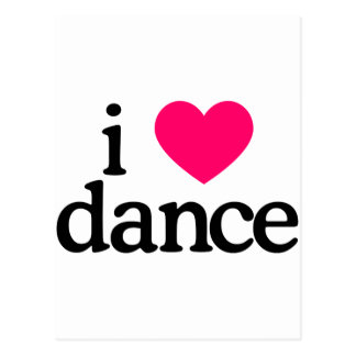 J'aime la danse carte postale