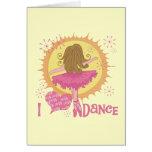 J'aime la danse cartes de vœux