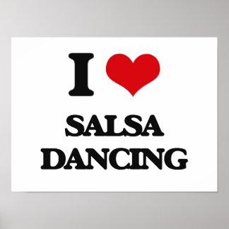 J'aime la danse de Salsa Posters