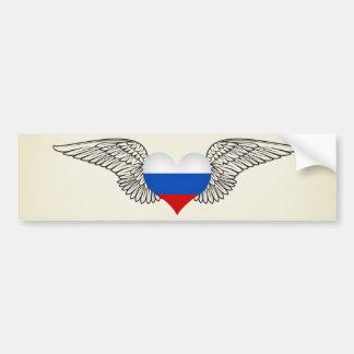 J'aime la Fédération de Russie - ailes Autocollant Pour Voiture