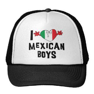 J'aime la femme mexicaine de garçons casquettes