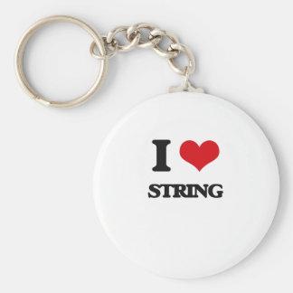 J'aime la ficelle porte-clé rond