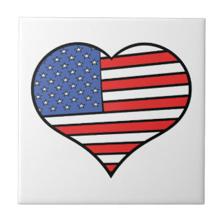 J'aime la fierté de l'Amérique - des Etats-Unis Petit Carreau Carré