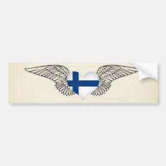 J'aime la Finlande - ailes Autocollant Pour Voiture