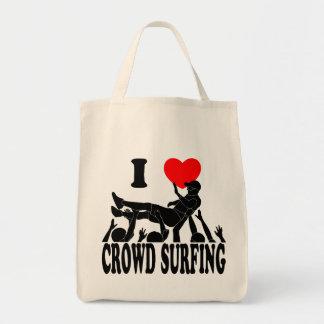 J'aime la foule surfant (mâle) (le noir) sac fourre-tout