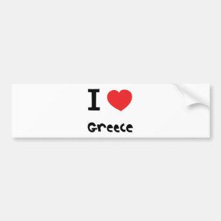 J'aime la Grèce Autocollant De Voiture