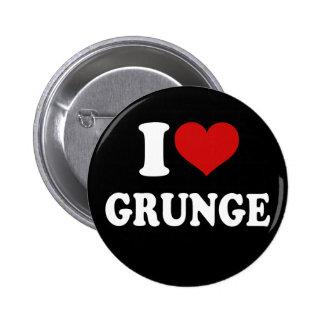 J'aime la grunge badge rond 5 cm