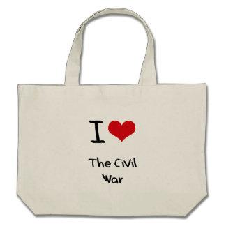 J'aime la guerre civile sac de toile