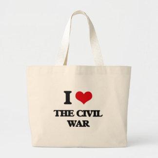 J'aime la guerre civile sac en toile jumbo