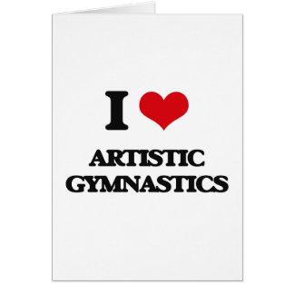 J'aime la gymnastique artistique carte de vœux