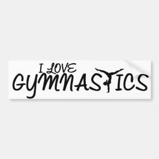 J'aime la gymnastique autocollant de voiture