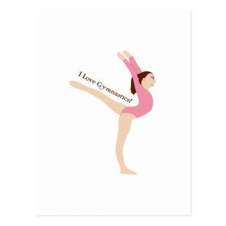 J'aime la gymnastique ! carte postale