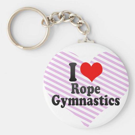J'aime la gymnastique de corde porte-clés