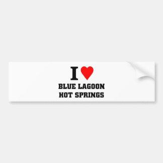 J'aime la lagune bleue Hot Springs Autocollant De Voiture