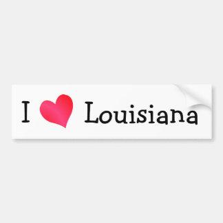 J'aime la Louisiane Autocollant Pour Voiture