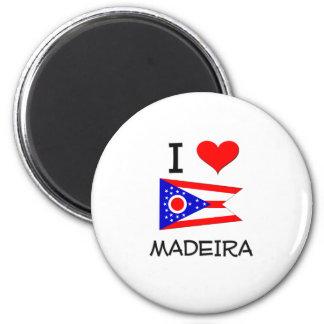 J'aime la Madère Ohio Magnets Pour Réfrigérateur