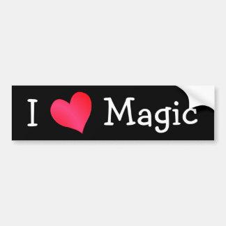 J'aime la magie autocollant de voiture