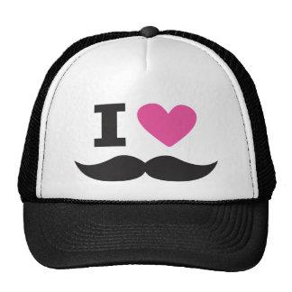 J'aime la moustache - rose casquettes