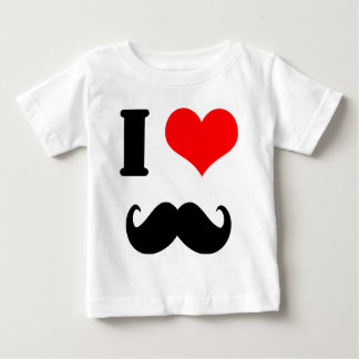 J'aime la moustache t-shirt pour bébé