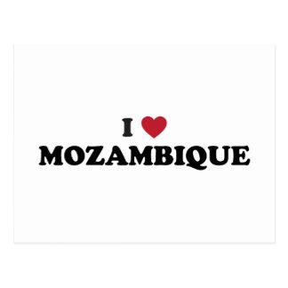 J'aime la Mozambique Carte Postale