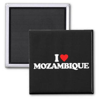 J'AIME LA MOZAMBIQUE MAGNET CARRÉ