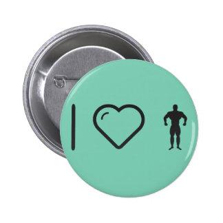 J'aime la musculation badge rond 5 cm
