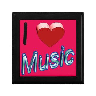 J'aime la musique 2 petite boîte à bijoux carrée