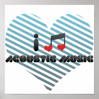 J'aime la musique acoustique posters