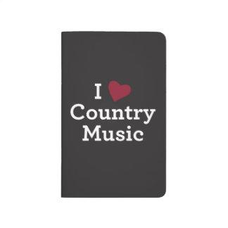 J'aime la musique country carnet de poche