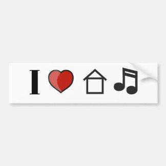 J'aime la musique de Chambre Autocollant Pour Voiture