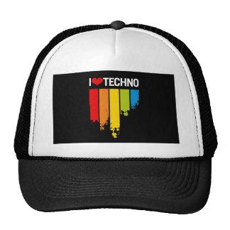 J'aime la musique de techno casquette
