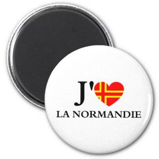 J'aime la Normandie Aimant