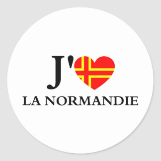 J'aime la Normandie Sticker Rond