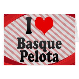 J'aime la pelote basque Basque Cartes De Vœux