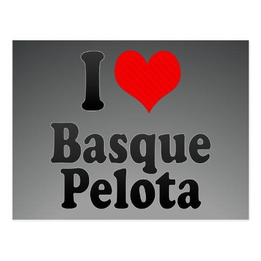 J'aime la pelote basque Basque Carte Postale