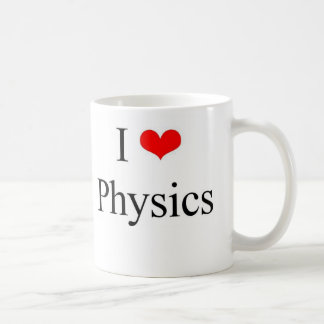 J'aime la physique mug blanc