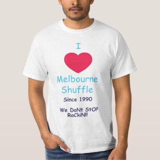 J'aime la pièce en t de pas traînant de Melbourne T-shirt