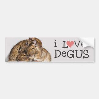 J'aime la pile de Degus - de Degu Autocollant De Voiture