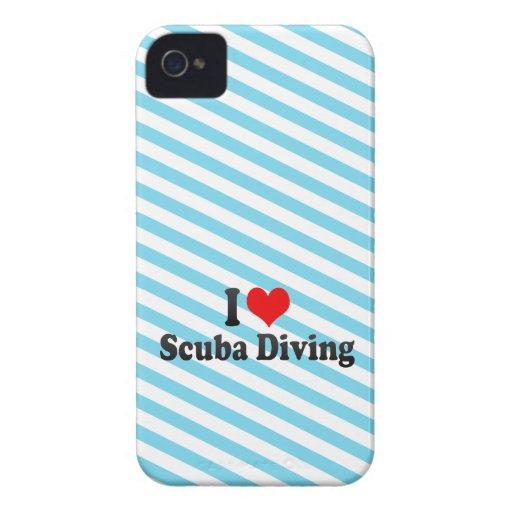 J'aime la plongée à l'air coques Case-Mate iPhone 4
